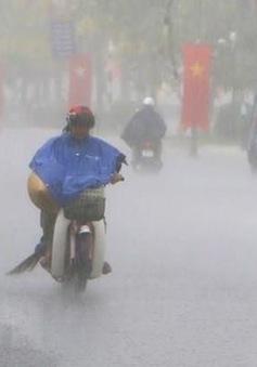 Trước khi suy yếu thành áp thấp nhiệt đới, bão số 2 gây mưa lớn từ Quảng Ninh đến Hà Tĩnh