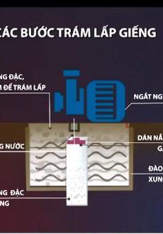 TP.HCM trám lấp giếng ngầm do gây sụt lún nghiêm trọng