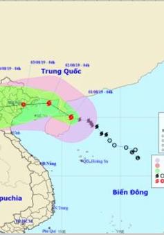 Chiều 1/8, bão số 3 sẽ đi vào khu vực phía Bắc vịnh Bắc Bộ
