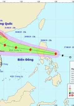 Sáng mai (28/8), bão Podul sẽ vào Biển Đông