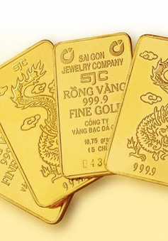 Giá vàng trong nước tuột khỏi mốc 42 triệu đồng/lượng
