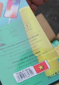 """Hải Phòng bắt giữ lượng lớn linh kiện điện thoại Trung Quốc ghi """"Made in Việt Nam"""""""