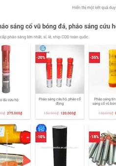 Dễ dàng mua bán pháo sáng trên mạng Internet