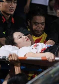 Khởi tố vụ bắn pháo sáng trên sân Hàng Đẫy khiến nữ CĐV trọng thương