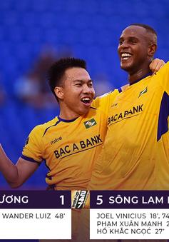 Becamex Bình Dương 1-5 Sông Lam Nghệ An: Vinicius lập hat-trick, SLNA thắng đậm B.Bình Dương