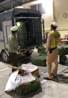 Bắt giữ 2,5 tấn nội tạng lợn không rõ nguồn gốc tại Lạng Sơn