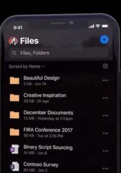 Microsoft cập nhật chế độ nền tối cho các ứng dụng trên iOS