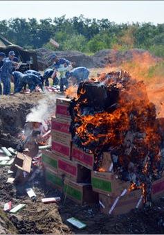 Tiêu hủy gần 68.000 bao thuốc lá ngoại nhập lậu