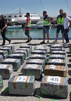 Tây Ban Nha thu giữ 2 tấn cần sa được giấu dưới biển