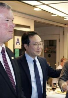 Phái viên hạt nhân Hàn Quốc - Mỹ - Nhật Bản nhóm họp