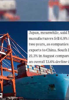 """Sản xuất toàn cầu """"ngấm đòn"""" từ thương chiến Mỹ - Trung"""
