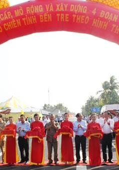 Thông xe dự án nâng cấp 4 đoạn tuyến Quốc lộ 60 tỉnh Bến Tre