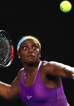 Vòng 1 đơn nữ Australia mở rộng 2020: Sloane Stephens bị loại