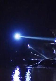 Ngang nhiên khai thác cát trái phép trong đêm tại Sóc Sơn, Hà Nội