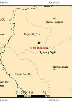 4 trận động đất liên tiếp trong 5 giờ tại Quảng Nam