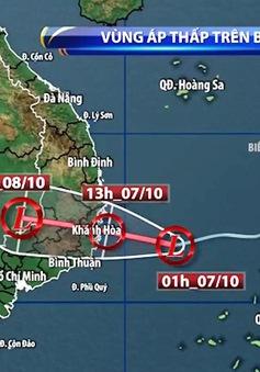 Vùng áp thấp đi vào vùng biển Phú Yên đến Khánh Hòa, Trung Bộ, Tây Nguyên và Nam Bộ mưa lớn