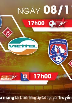 Loạt trận cuối V-League: Viettel trỗi dậy hay Hà Nội tại vị ngôi vương (17h, 8/11, Bóng đá TV)