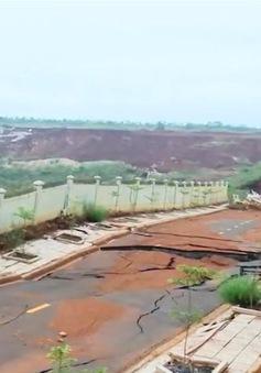Khu công nghiệp Nhân Cơ sụt lún nghiêm trọng, thiệt hại hàng chục tỷ đồng