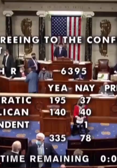 Hạ viện Mỹ thông qua dự luật ngân sách quốc phòng năm 2021