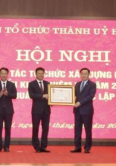 Ban Tổ chức Thành ủy Hà Nội đón nhận Huân chương độc lập hạng Nhì
