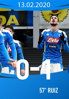 Inter Milan 0-1 Napoli: Fabian Ruiz tỏa sáng