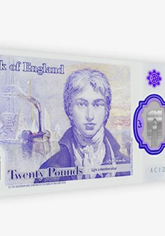 Anh lưu hành chính thức tờ tiền mệnh giá 20 Bảng bằng polymer