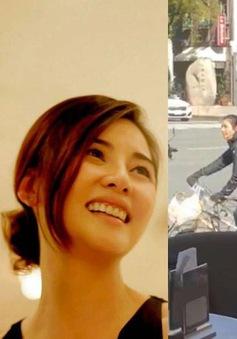 Vợ chồng Trịnh Y Kiện không đeo khẩu trang khi đi nghỉ ở Nhật Bản