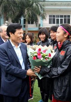 Bộ trưởng Nguyễn Ngọc Thiện biểu dương đội tuyển nữ giành vé đi tiếp tại vòng loại Olympic 2020