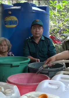 Mang nước ngọt đến người dân vùng hạn mặn Bến Tre