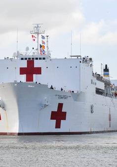 Mỹ triển khai siêu tàu bệnh viện đến New York ứng phó với dịch bệnh