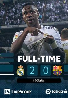 Real Madrid giành chiến thắng trước Barcelona trong trận Siêu kinh điển