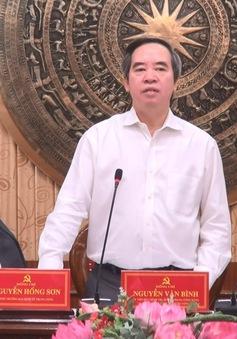 Trưởng ban Kinh tế Trung ương Nguyễn Văn Bình: Tạo đột phá cho Thanh Hóa phát triển