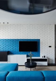 Phòng khách màu xanh giúp tâm trí thư giãn