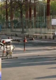 Pháp phun khử trùng bằng thiết bị bay không người lái