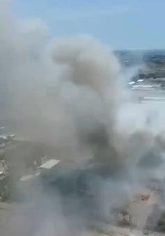 Khánh Hòa: Cháy lớn tại bãi rác Dốc Đỏ đe doạ khu dân cư