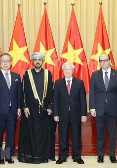Tổng Bí thư, Chủ tịch nước tiếp Đại sứ các nước đến trình Quốc thư