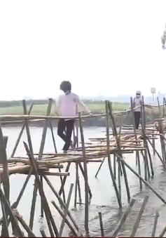 Người dân tham gia làm cầu dân sinh, ngăn chặn khai thác cát trái phép