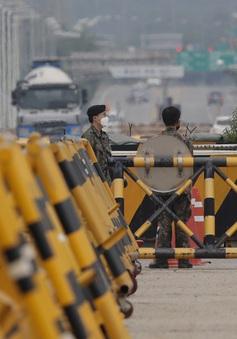 Binh sĩ Triều Tiên xuất hiện ở khu phi quân sự sát biên giới với Hàn Quốc
