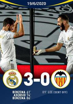 Real Madrid 3-0 Valencia: Chiến thắng cách biệt