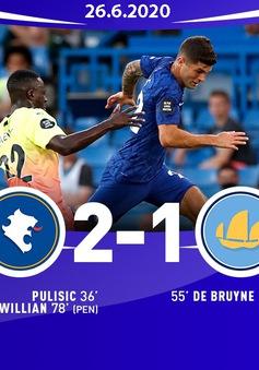 Chelsea 2-1 Man City: Man xanh thất bại, Liverpool vô địch sớm 7 vòng đấu