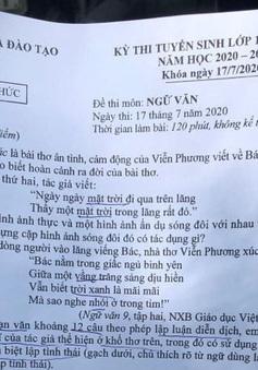 CHÍNH THỨC: Đề thi môn Ngữ văn vào lớp 10 THPT năm học 2020-2021 tại Hà Nội