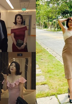 """Đừng bắt em phải quên: Ngắm những bộ đầm gợi cảm của """"tiểu tam"""" Linh - NSƯT Kim Oanh"""