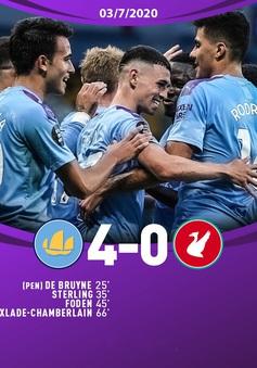Man City 4-0 Liverpool: Tân vương nhận cú sốc