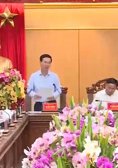 Trưởng Ban Tuyên giáo Trung ương làm việc tại Hà Tĩnh