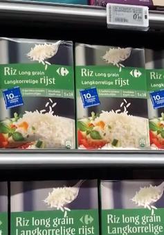 Gạo Việt trong các siêu thị châu Âu được đóng gói ra sao?