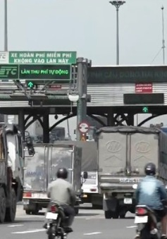 Trạm BOT cầu Đồng Nai trước giờ tạm dừng thu phí