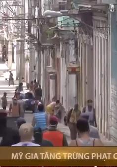 Mỹ gia tăng trừng phạt Cuba