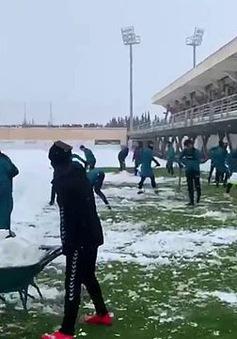 Bóng đá Tây Ban Nha lao đao vì … tuyết
