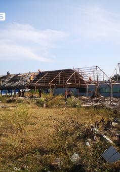 Vũng Tàu tháo dỡ nhiều công trình xây dựng trái phép ăn theo dự án Hóa Dầu Long Sơn