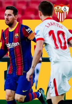 Barcelona thất bại trước Sevilla trong trận bán kết lượt đi Cúp Nhà vua Tây Ban Nha